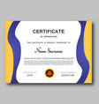 certificate of appreciation template trendy vector image