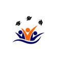children school logo vector image vector image
