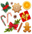 christmas symbol icons vector image