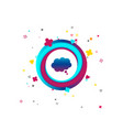 comic speech bubble sign icon chat think symbol vector image vector image