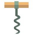 corkscrew icon flat isolated vector image