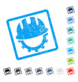 development hardhat icon rubber watermark vector image vector image