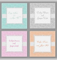 elegant wedding invitation set beautiful stylish vector image