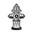 fire hydrant detailed vintage vector image vector image