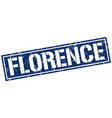 florence blue square stamp vector image