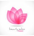 flower symbol abstract beauty salon cosmetics vector image