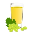 fresh grape juice vector image vector image