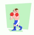 funny little kids do some boxing style vector image vector image
