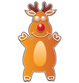 gingerbread cookie - rudolph deer vector image vector image