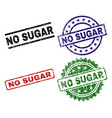 grunge textured no sugar seal stamps vector image
