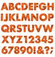 halloween black orange spider web pattern alphabet vector image