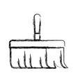 hand broom with wooden stick in monochrome blurred vector image vector image