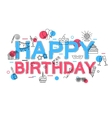 Happy Birthday Concept with icons and vector image vector image