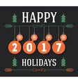 Happy Holidays inscription for invitation and vector image