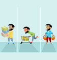 hipsters in the store vector image vector image