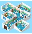 Hospital Facilities Interior Isometric View vector image vector image