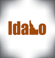 Idaho state graphic vector image