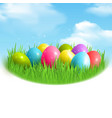 magic eggs outdoor composition vector image vector image