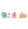medieval castles fairy tale towers collection vector image
