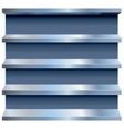 metal shelves vector image vector image