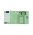one hundred euro banknote green paper 100 vector image vector image