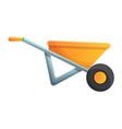 plastic wheelbarrow icon cartoon style vector image vector image