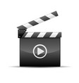 player icon - film slate or movie clapboard vector image vector image