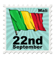 post stamp of national day of Mali vector image vector image