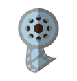 reel film movie wheel icon shadow vector image