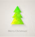 Retro christmas tree made of triangles vector image