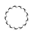 rustic branches in the circle design vector image vector image