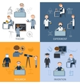 Science Flat Set vector image vector image