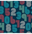 Seamless pattern of numbers vector image vector image