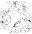 Seamless pattern with black and white vector image