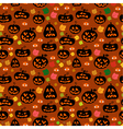 seamless pumpkin background vector image vector image