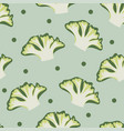 seamless vegetables set of broccoli on geen vector image