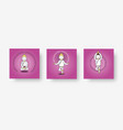 set characters poses and asanas in yoga on a vector image