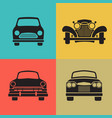 set classic car front view icon vector image vector image
