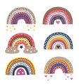 set isolated beautiful rainbows part 1 vector image vector image