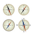 set of 4 isolated compass vector image vector image