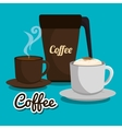 set of cup coffee graphic vector image