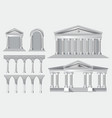 set realistic antique columns vector image vector image