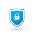 shield security with lock symbol protection vector image vector image