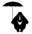 smiling man in the bowler hat with umbrella vector image vector image