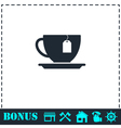 Tea icon flat vector image vector image