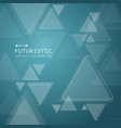triangle technology futuristic pattern on vector image vector image
