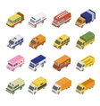 Utility Transport Icon Set Flat 3d Isometric vector image vector image