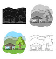 vacation homerealtor single icon in cartoon style vector image vector image