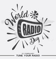 world radio day banner vector image vector image