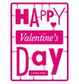 typographic valentines day card vector image